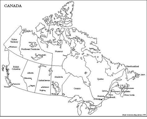 white canada map maps of canada canada america mega net