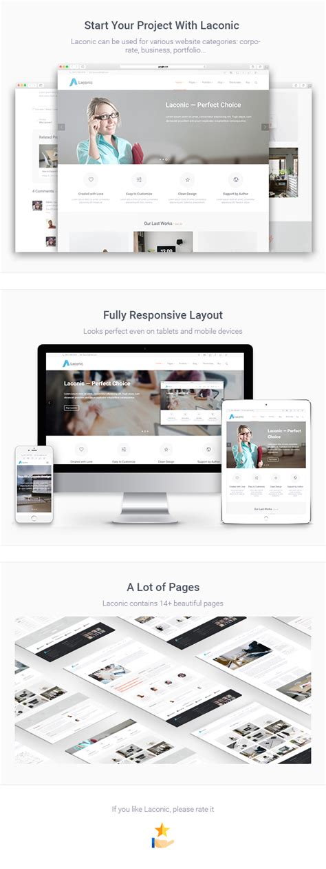 corporate html5 templates laconic business corporate html5 template by gryndii