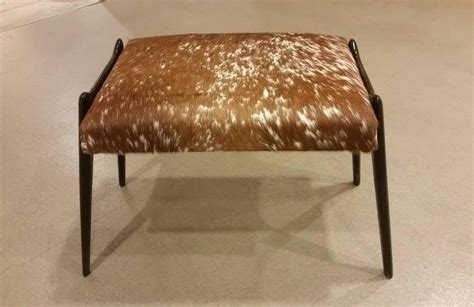 modern ottomans and stools pair of mid century modern danish stools or ottomans in