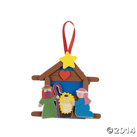 nativity crafts for religious nativity ornament craft kit 12pk supplies