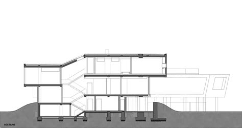 section of plan gallery of a house in a forest igloo architecture 15