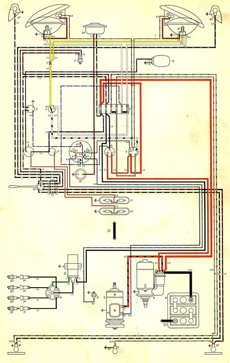 1967 vw beetle light switch wiring diagram 1967 get free