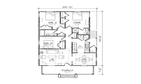 Simple Bungalow Floor Plans by Single Story Open Floor Plans Simple Bungalow Floor Plans