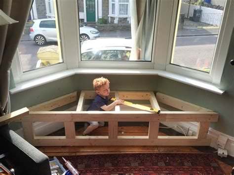 bay window seat height how to build a bay window seat with storage