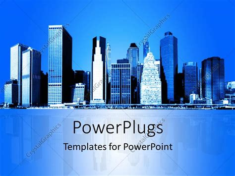 city view powerpoint template background for powerpoint template skyline of new york city with