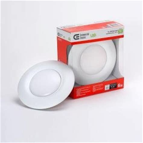 led lights that fit in junction box t67 commercial electric 6 in recessed white led disk