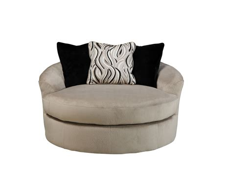 Heflin Contemporary Pebble Fabric Oversized Swivel Accent Oversized Swivel Accent Chair