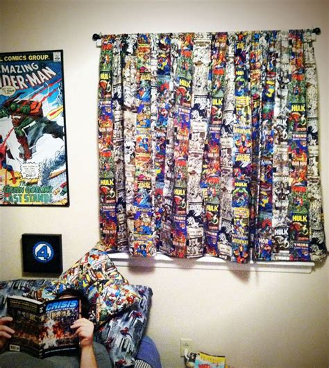 Comic Book Curtains Comic Book Curtains Geeks Nerds Etc