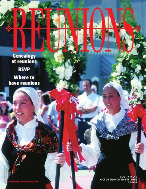 Deals November 13 2006 2 by Reunions Magazine Volume 17 Number 2 October November