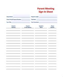 Back To School Sign In Sheet Template by Sle Student Sign In Sheet Templates 8 Free Documents