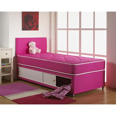 free beds dream vendor pink cotton sliding storage divan bed free
