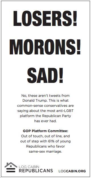 losers morons gay republican group slams gop  full page usa today ad nbc news