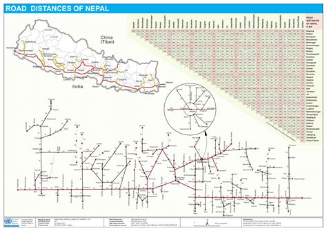 distance road map 2 3 nepal road network logistics capacity assessment