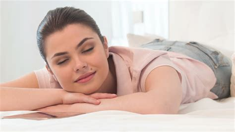 how to turn her on in bed cute girl sleeping in bed turning around opening her eyes