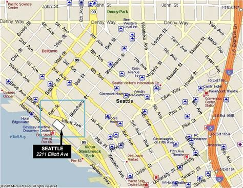 seattle hotels map downtown facilities web cus maps