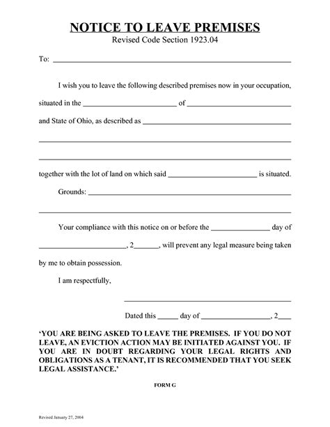 best photos of eviction notice ohio form easy eviction