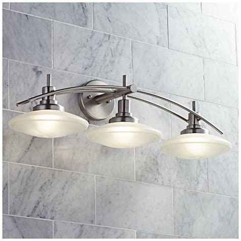 Ls Plus Bathroom Vanity Lights Structures Nickel 30 Quot Wide Bathroom Light Fixture 57989 Ls Plus