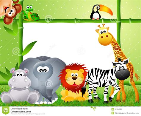 safari cartoon safari animal cartoon stock illustration illustration of