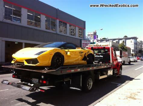 Lamborghini Dealership San Francisco Lamborghini Gallardo Wrecked San Francisco Ca
