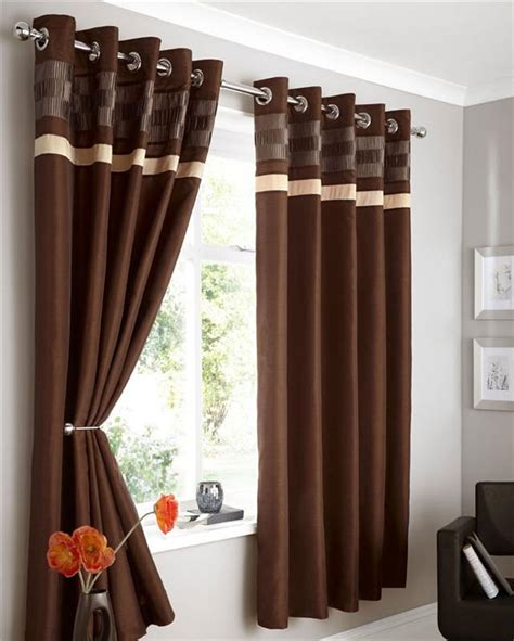 braune gardinen modern faux silk lined curtains plum brown black or