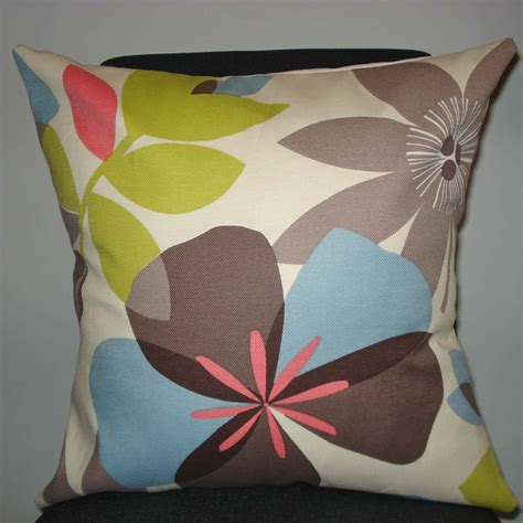 Pillow Handmade - new 18x18 inch designer handmade pillow cases in bright floral