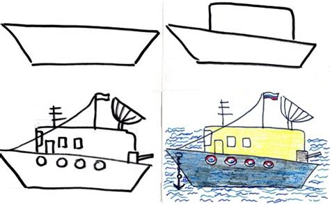 how to draw a military boat pictures for kids to draw step by step military heavies