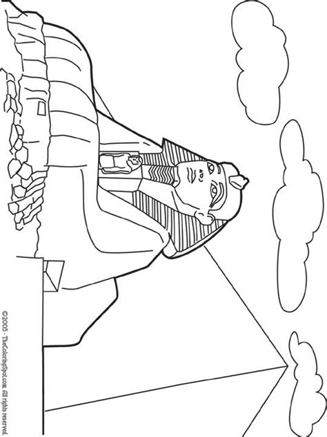 egypt sphinx coloring pages great sphinx coloring page site has other printables for