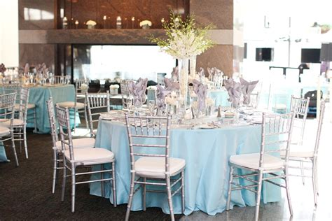 orchid centerpiece white tall centerpiece light blue and