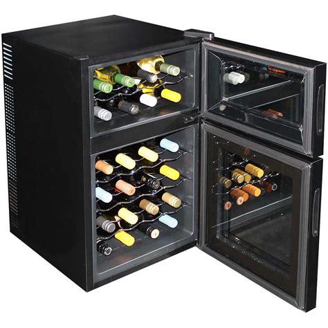 24 wine refrigerator dual zone wine fridge 24 bottle