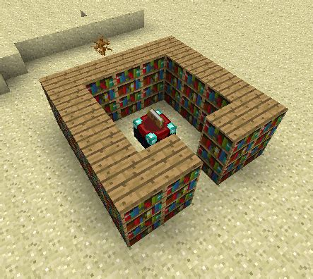 most efficient use of bookshelves around enchanting table