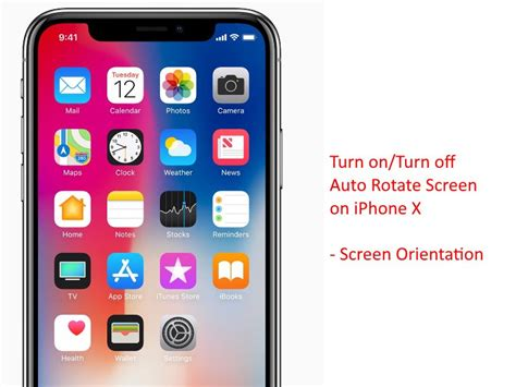 turn on turn auto rotate screen on iphone x xs max xs xr screen orientation