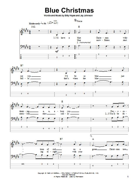 blue song guitar blue by elvis bass tab guitar instructor