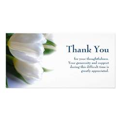 sympathy thank you photo card zazzle
