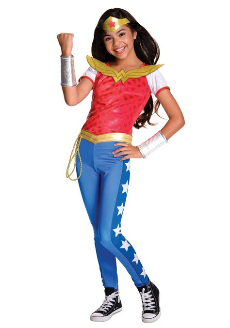 superhero halloween costumes for girls dc superhero girls deluxe wonder woman costume
