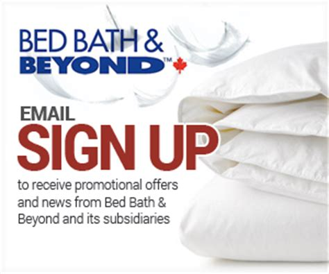 bed bath and beyond email sign up harvey s mail to win and save