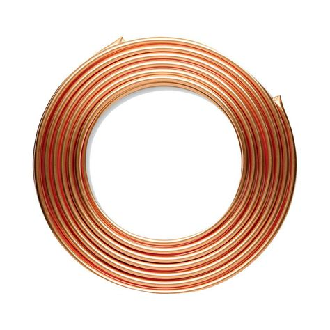 home depot pipe l 1 2 in id x 10 ft copper soft type l coil 5 8 in od