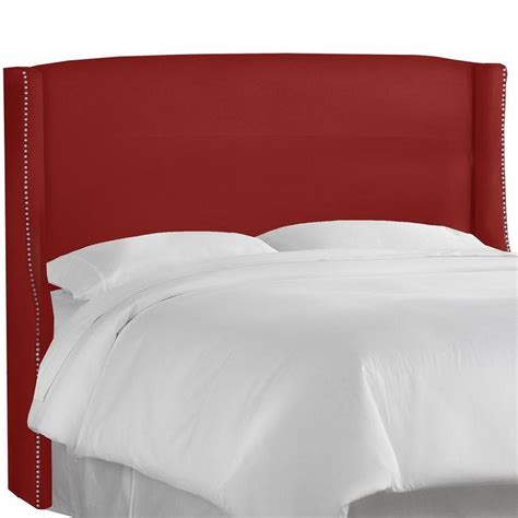 red headboards made to order nail button red wingback headboard