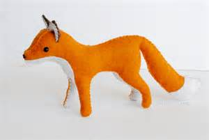 Felt Templates Animals by Felt Fox Pattern Sew Your Own Woodland Animals