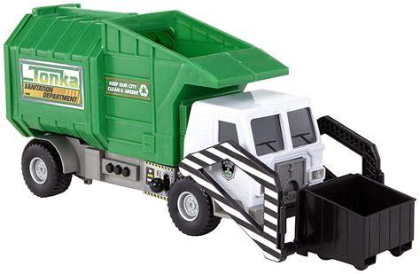 tonka mighty motorized truck garbage truck side loader
