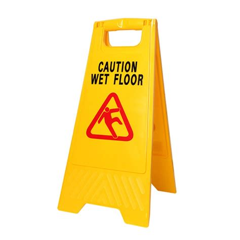 Clean  Yellow Workplus Wet Floor Caution Sign