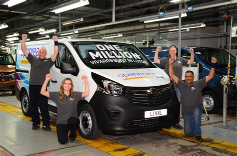 vauxhall luton one millionth vauxhall vivaro rolls out of luton