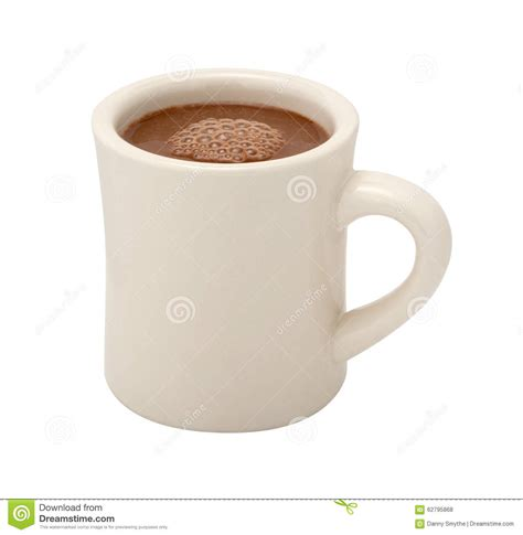 Coffee Cup No Handle by Chocolate Mug Isolated Stock Photo Illustration Of