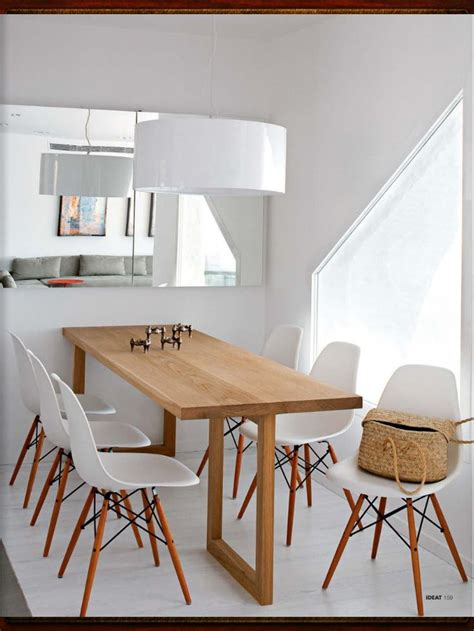 salle  manger  table en bois sur mesure chaises esprit scandinave deco idees pour la