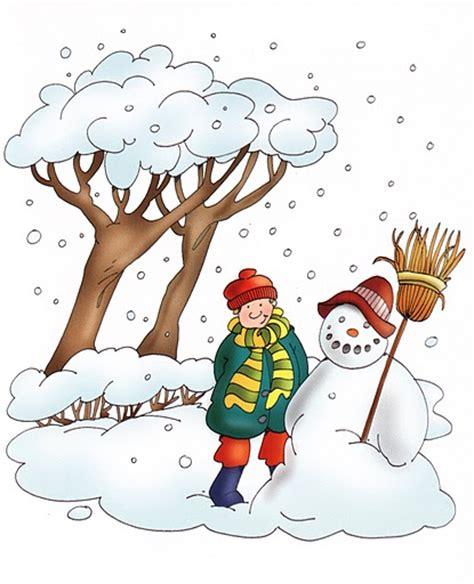 imagenes de invierno caricatura dibujos estaciones del a 241 o para imprimir