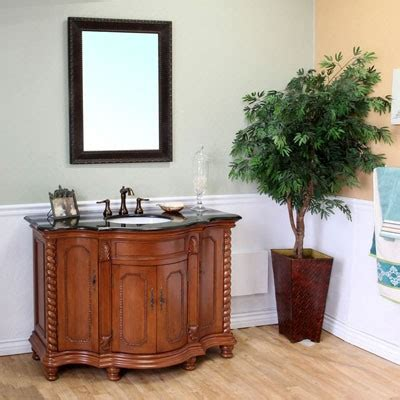 48 Inch Solid Wood Bathroom Vanity Ronan Single 48 Inch Traditional Bathroom Vanity