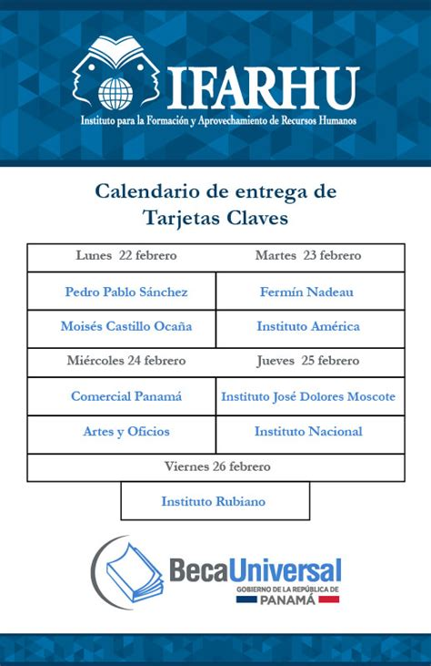 calendario de pago segundo semestre panama 2016 implementan pago de beca universal por ach ifarhu