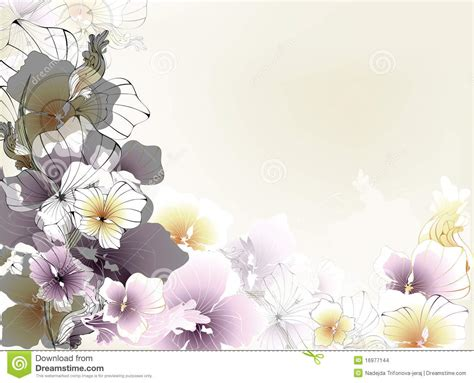 beautiful card beautiful floral card stock images image 16977144