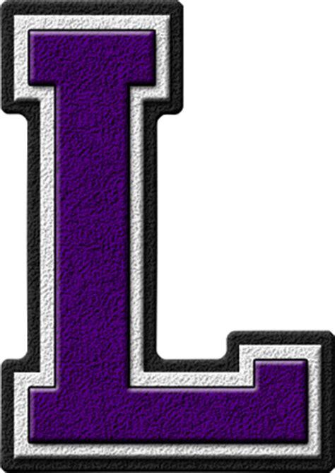 Purple L Presentation Alphabets Purple Varsity Letter L