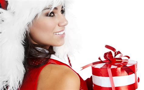 girl with gifts wallpapers and images wallpapers