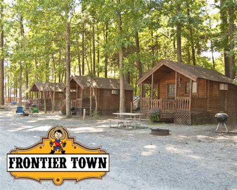 cabin city deal 67 for 2 cabin getaway at frontier town near